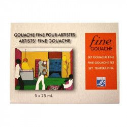 Gouache fine Linel Set 25ml x 5