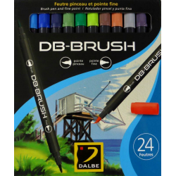 Set 24 feutres pinceau DB-Brush