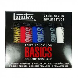 Acrylique Liquitex Basics - Set 5 x 118ml