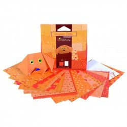 Papier origami 12x12cm Orange- Avenue Mandarine