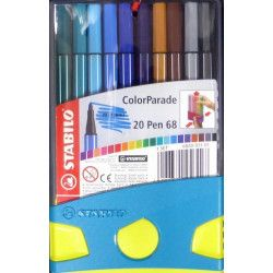 Colorparade Set 20 feutres Stabylo Pen68