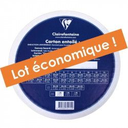 Lot de 5 cartons entoilés ronds 20cm