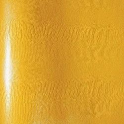 Papier simili-cuir Lezard jaune moutarde