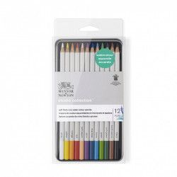 Crayons de couleurs aquarellables Winsor & Newton x12