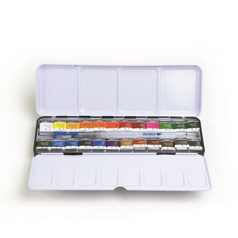 Boîte Aquarelle Fine Start 24 1/2 godets - Wingo