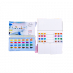 Boite aquarelle extra-fine White Nights 24 godets