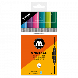 Marqueurs One4All Acrylic Twin 1,5 - 4 mm Set basic n° 2 - Molotow