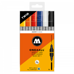 Marqueurs One4All Acrylic Twin 1,5 - 4 mm Set basic n° 1 - Molotow