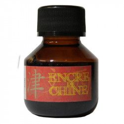Encre de Chine Sépia semi-transparente, 45 ml