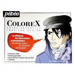 Encre aquarellable Colorex - Set 20ml x8