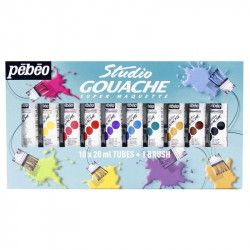 Studio Gouache set 10x20ml tubes + 1 brush